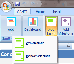 Gantt Chart Template Add Task Buttons
