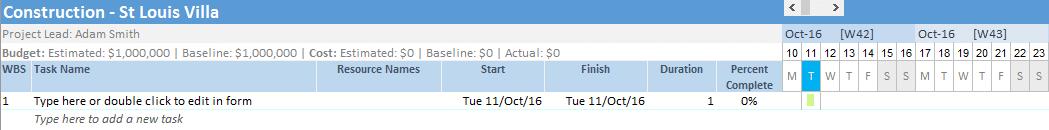 Gantt Chart Excel Timeline