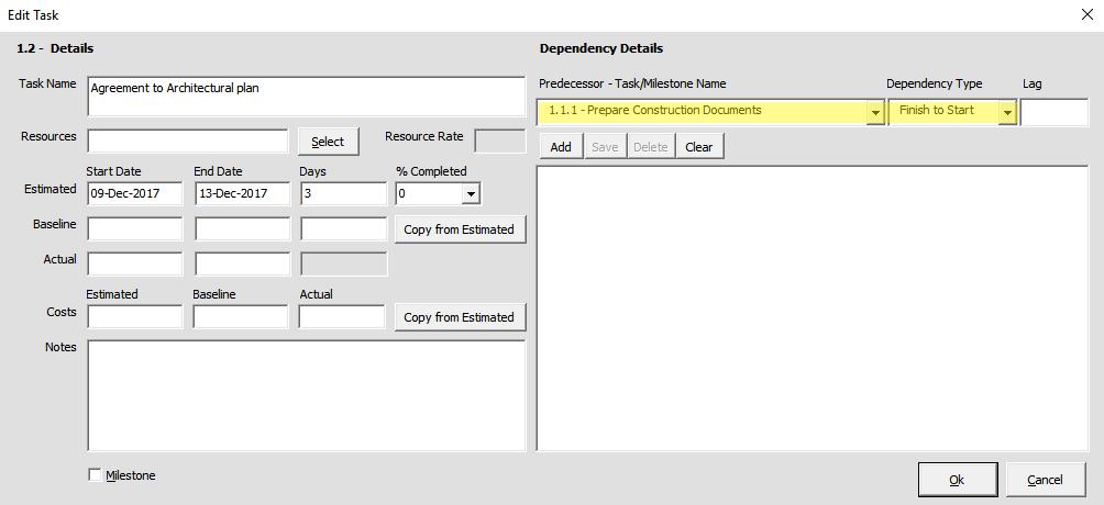 Adding Task Dependencies