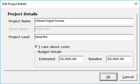 gantt excel project details