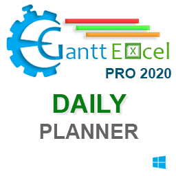 Gantt Excel Pro Daily Planner Version