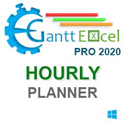 Gantt Excel Pro Hourly Planner Version