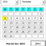Gantt Excel Calendar